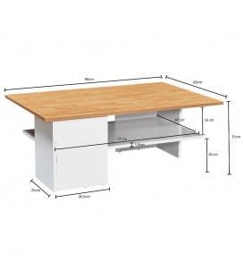 MILANO hvid - Sofabord - 90x60 cm