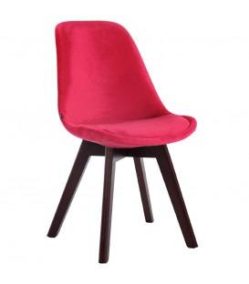 BERNERT - Spisebord stol - Velvet/Egetræ