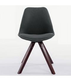 ANNA - stof/Egetræ - spisebord stol