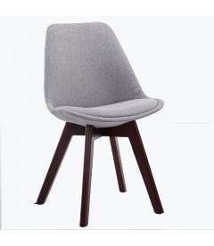 BERNERT - stof/Egetræ - Spisebord stol