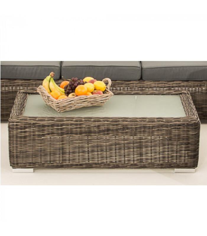 MADRIDA - sofa bord - grå fletet