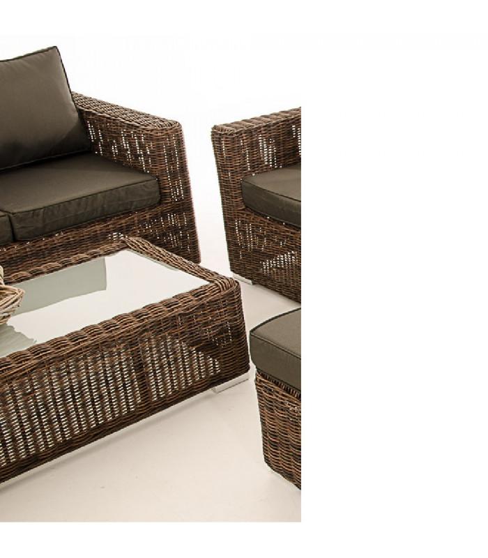 MADRIDA - sofa bord - brun fletet
