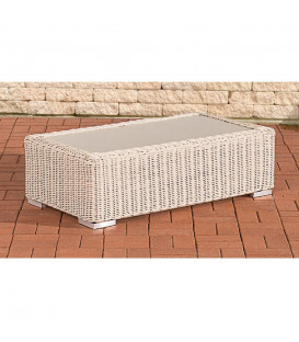 MADRIDA - sofa bord - hvid fletet