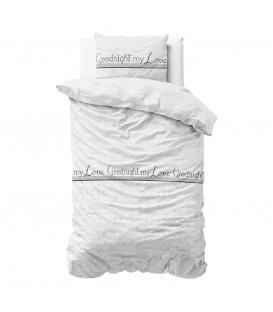 WHITE LOVE - Sengesæt - Blandings bomuld