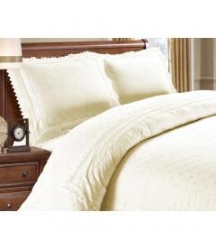 LILY cream - Luksus sengesæt - bomuld