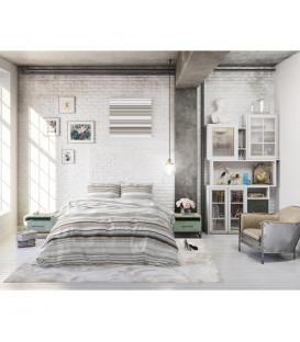 BINNY taupe - Blandings bomuld - sengesæt
