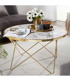 EMMA GOLD - Sofabord - Ø 85 cm
