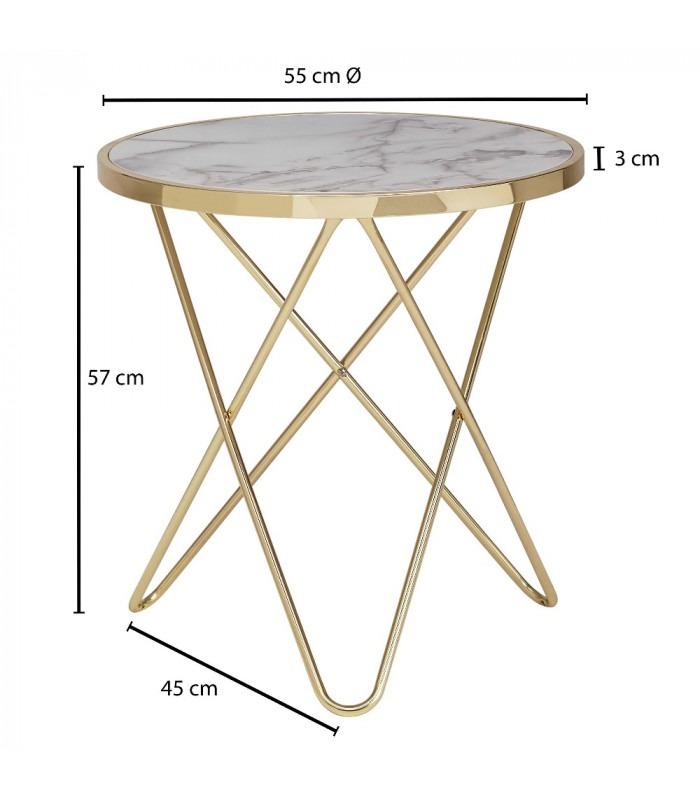 EMMA GOLD - Sidebord - Ø 55 cm