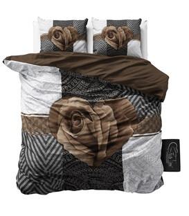 Brun Rose  - Sengesæt - 200 x 220 cm