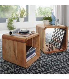 Cube - Akacie træ - Sofabord